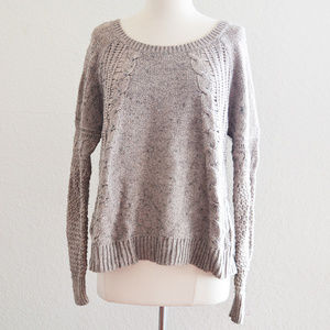Taupe Long Sleeve Knit Sweater Size L